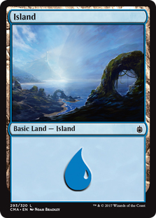 Island (293) card from Commander Anthology