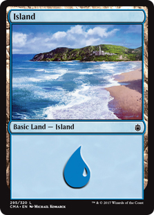 Island (295) card from Commander Anthology