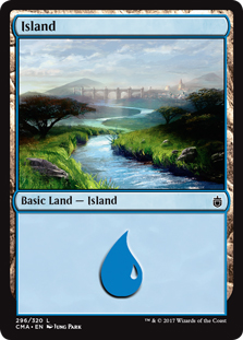 Island (296) card from Commander Anthology