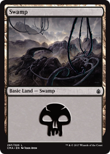 Swamp (297) card from Commander Anthology