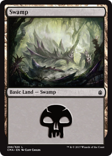 Swamp (298) card from Commander Anthology