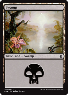 Swamp (300) card from Commander Anthology