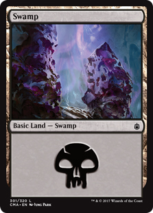 Swamp (301) card from Commander Anthology