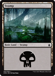 Swamp (302) card from Commander Anthology