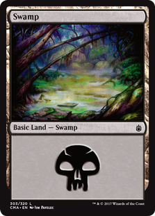 Swamp (303) card from Commander Anthology