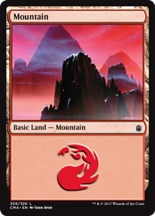 Mountain (305) card from Commander Anthology