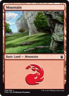 Mountain (308) card from Commander Anthology