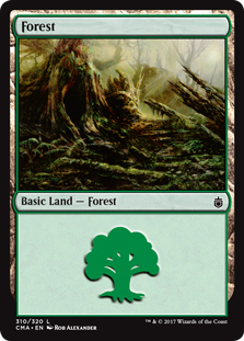 Forest (310) card from Commander Anthology