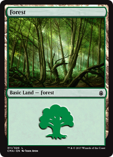 Forest (311) card from Commander Anthology