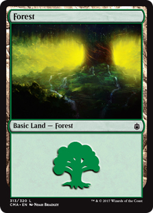 Forest (313) card from Commander Anthology