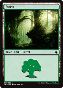 Forest (314) card from Commander Anthology