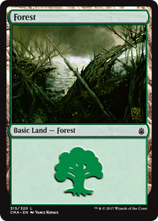 Forest (315) card from Commander Anthology