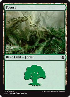 Forest (316) card from Commander Anthology
