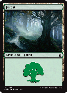 Forest (317) card from Commander Anthology