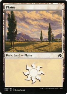 Plains (33) card from Duel Decks: Elspeth vs. Kiora