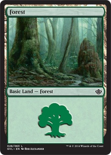 Forest (28) (Garruk vs Liliana) card from Duel Decks: Anthology