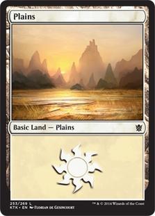 Plains (253) card from Khans of Tarkir