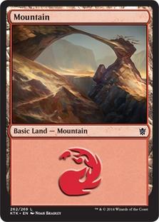 Mountain (262) card from Khans of Tarkir