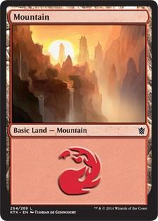 Mountain (264) card from Khans of Tarkir