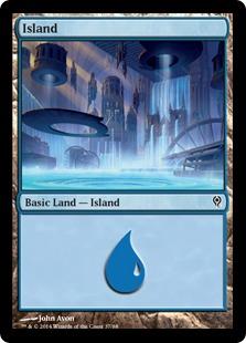 Island (37) card from Duel Decks: Jace vs. Vraska