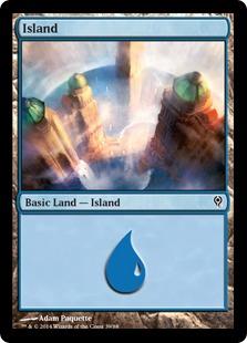 Island (39) card from Duel Decks: Jace vs. Vraska