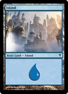 Island (40) card from Duel Decks: Jace vs. Vraska