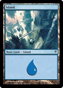 Island (41) card from Duel Decks: Jace vs. Vraska