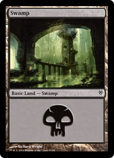 Swamp (83) card from Duel Decks: Jace vs. Vraska