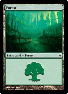 Forest (84) card from Duel Decks: Jace vs. Vraska