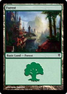 Forest (86) card from Duel Decks: Jace vs. Vraska