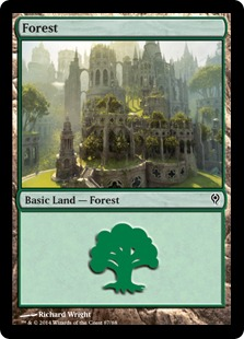 Forest (87) card from Duel Decks: Jace vs. Vraska