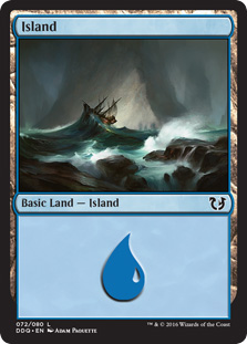 Island (72) card from Duel Decks: Blessed vs. Cursed