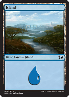 Island (73) card from Duel Decks: Blessed vs. Cursed