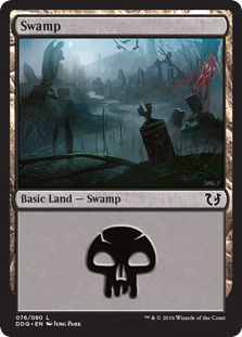 Swamp (76) card from Duel Decks: Blessed vs. Cursed