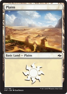 Plains (177) card from Fate Reforged