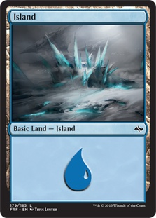 Island (179) card from Fate Reforged