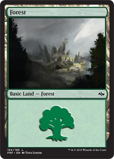 Forest (184) card from Fate Reforged