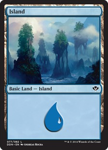 Island (77) card from Duel Decks: Speed vs. Cunning