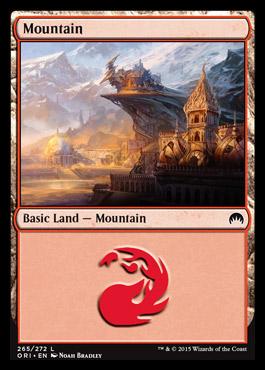 Mountain (265) card from Magic Origins