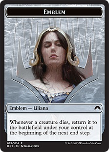 Emblem - Liliana, Defiant Necromancer