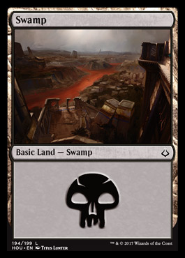 Swamp (194) card from Hour Of Devastation