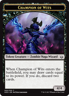 Champion of Wits Token
