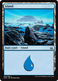 Island (29) card from Duel Decks: Mind vs. Might