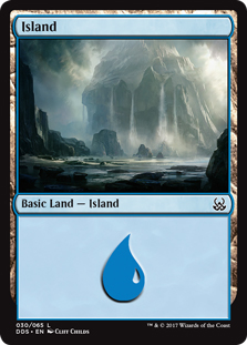 Island (30) card from Duel Decks: Mind vs. Might
