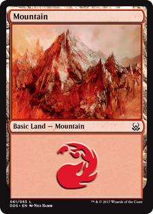 Mountain (61) card from Duel Decks: Mind vs. Might