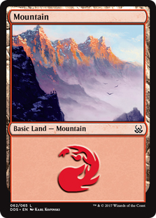 Mountain (62) card from Duel Decks: Mind vs. Might