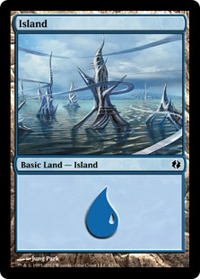 Island (42) card from Duel Decks: Venser vs. Koth