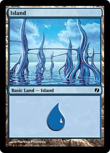 Island (43) card from Duel Decks: Venser vs. Koth