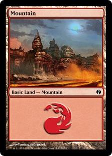 Mountain (74) card from Duel Decks: Venser vs. Koth