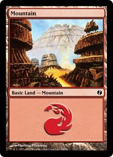 Mountain (76) card from Duel Decks: Venser vs. Koth